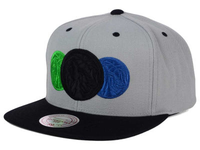 Minnesota Timberwolves Mitchell and Ness NBA Triple Color Stack Snapback Cap