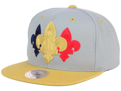 New Orleans Pelicans Mitchell & Ness NBA Triple Color Stack Snapback Cap