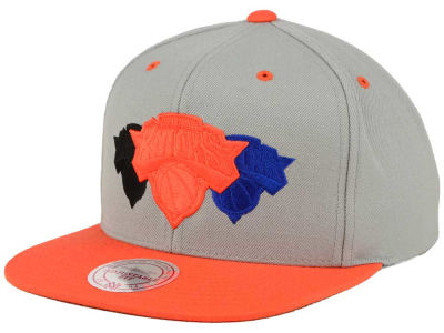 New York Knicks Mitchell and Ness NBA Triple Color Stack Snapback Cap