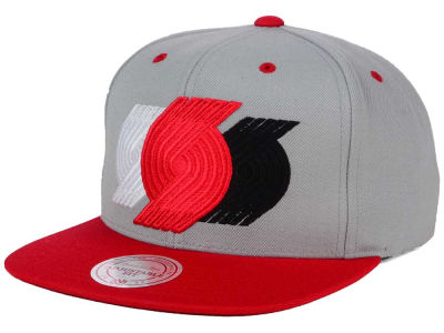 Portland Trail Blazers Mitchell and Ness NBA Triple Color Stack Snapback Cap