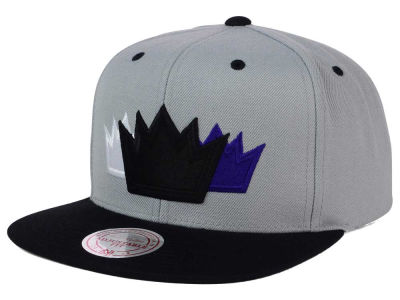 Sacramento Kings Mitchell and Ness NBA Triple Color Stack Snapback Cap