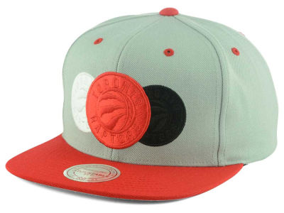 Toronto Raptors Mitchell and Ness NBA Triple Color Stack Snapback Cap