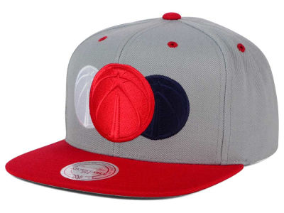 Washington Wizards Mitchell and Ness NBA Triple Color Stack Snapback Cap