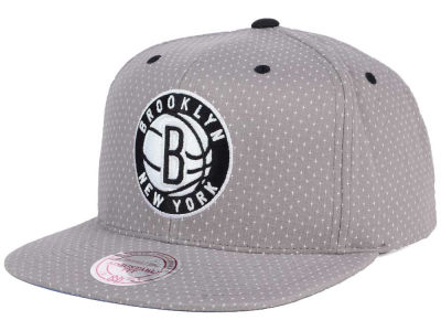 Brooklyn Nets Mitchell and Ness NBA Dotted Cotton Snapback Cap
