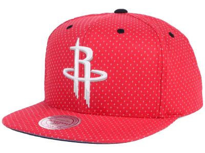 Houston Rockets Mitchell and Ness NBA Dotted Cotton Snapback Cap