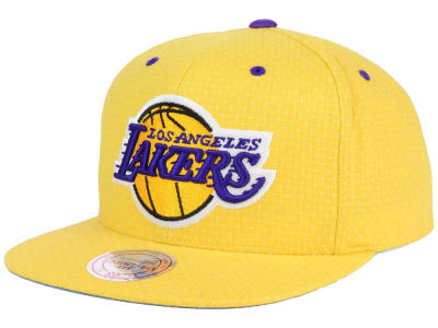 Los Angeles Lakers Mitchell and Ness NBA Dotted Cotton Snapback Cap
