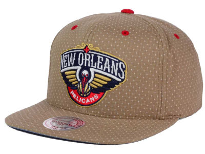 New Orleans Pelicans Mitchell and Ness NBA Dotted Cotton Snapback Cap