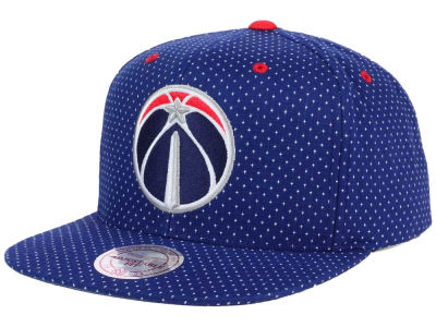 Washington Wizards Mitchell and Ness NBA Dotted Cotton Snapback Cap