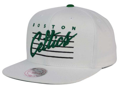 Boston Celtics Mitchell and Ness NBA Cursive Script Cotton Snapback Cap