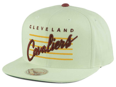 Cleveland Cavaliers Mitchell and Ness NBA Cursive Script Cotton Snapback Cap