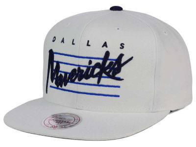 Dallas Mavericks Mitchell and Ness NBA Cursive Script Cotton Snapback Cap