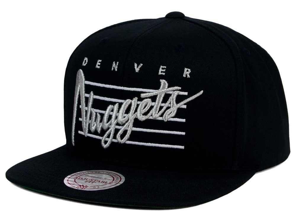 b6701106abb Denver Nuggets Mitchell   Ness NBA Cursive Script Cotton Snapback Cap