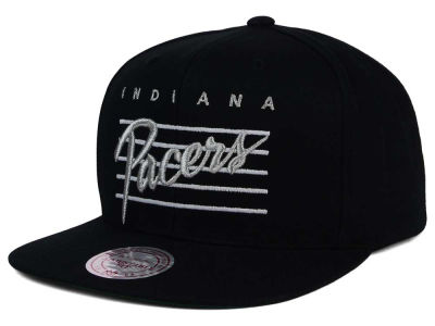 Indiana Pacers Mitchell and Ness NBA Cursive Script Cotton Snapback Cap