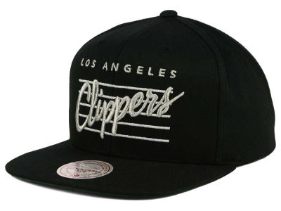Los Angeles Clippers Mitchell and Ness NBA Cursive Script Cotton Snapback Cap