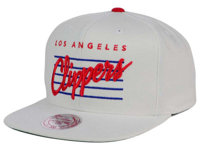Los Angeles Clippers Mitchell & Ness NBA Cursive Script Cotton Snapback Cap