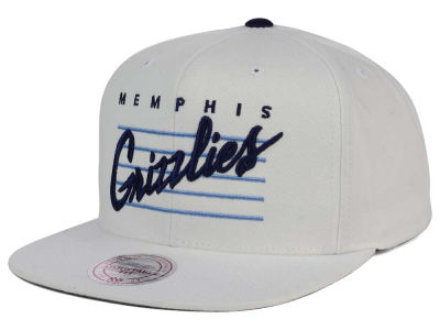 Memphis Grizzlies Mitchell and Ness NBA Cursive Script Cotton Snapback Cap