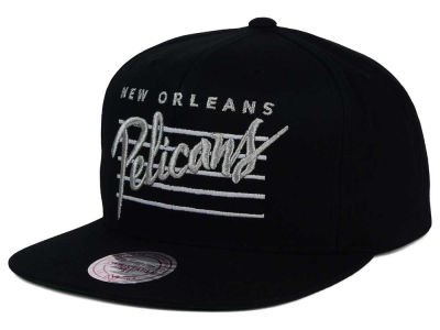 New Orleans Pelicans Mitchell and Ness NBA Cursive Script Cotton Snapback Cap