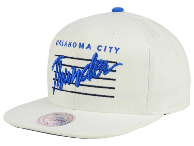 Oklahoma City Thunder Mitchell and Ness NBA Cursive Script Cotton Snapback Cap