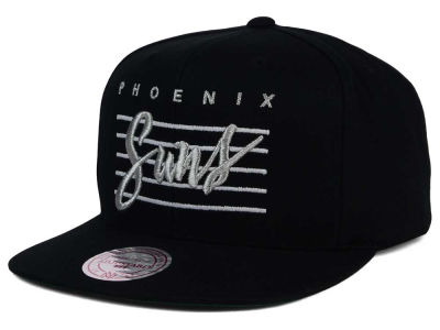 Phoenix Suns Mitchell and Ness NBA Cursive Script Cotton Snapback Cap