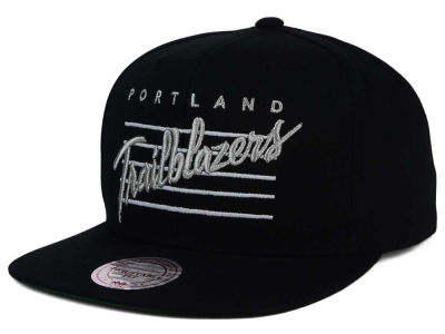 Portland Trail Blazers Mitchell and Ness NBA Cursive Script Cotton Snapback Cap