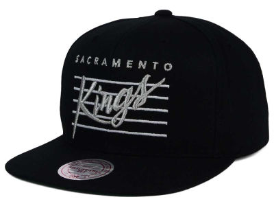 Sacramento Kings Mitchell and Ness NBA Cursive Script Cotton Snapback Cap