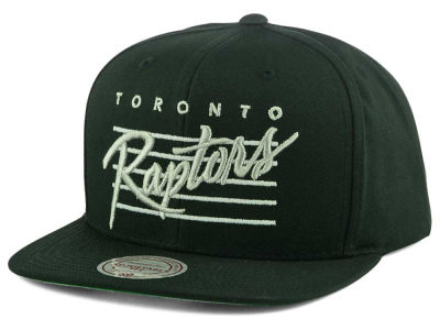 Toronto Raptors Mitchell and Ness NBA Cursive Script Cotton Snapback Cap