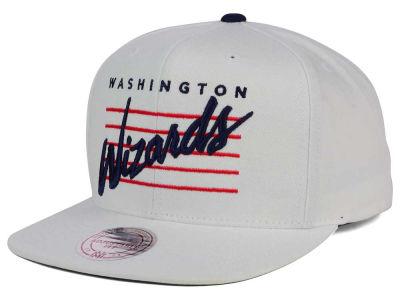 Washington Wizards Mitchell & Ness NBA Cursive Script Cotton Snapback Cap