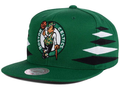 Boston Celtics Mitchell and Ness NBA Solid Diamond Snapback Cap