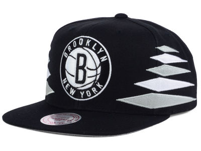 Brooklyn Nets Mitchell and Ness NBA Solid Diamond Snapback Cap