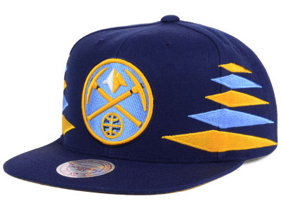 Denver Nuggets Mitchell & Ness NBA Solid Diamond Snapback Cap