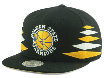 Golden State Warriors Mitchell and Ness NBA Solid Diamond Snapback Cap