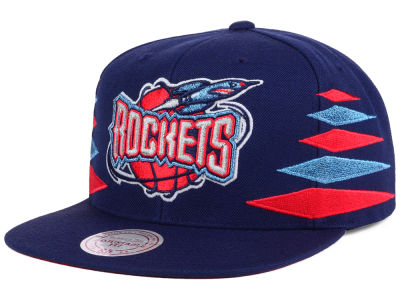 Houston Rockets Mitchell and Ness NBA Solid Diamond Snapback Cap