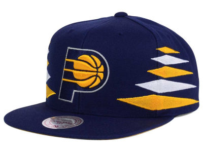 Indiana Pacers Mitchell and Ness NBA Solid Diamond Snapback Cap
