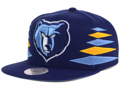 Memphis Grizzlies Mitchell and Ness NBA Solid Diamond Snapback Cap