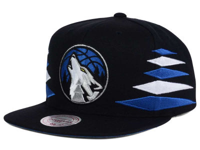 Minnesota Timberwolves Mitchell and Ness NBA Solid Diamond Snapback Cap