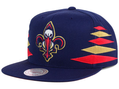 New Orleans Pelicans Mitchell and Ness NBA Solid Diamond Snapback Cap