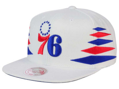 Philadelphia 76ers Mitchell and Ness NBA Solid Diamond Snapback Cap
