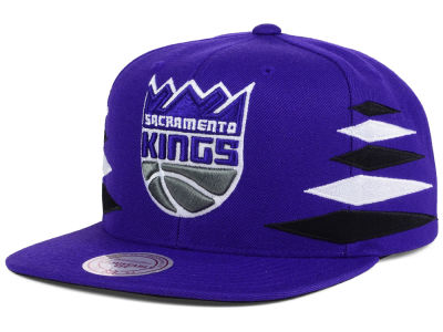 Sacramento Kings Mitchell and Ness NBA Solid Diamond Snapback Cap