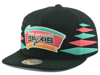 San Antonio Spurs Mitchell and Ness NBA Solid Diamond Snapback Cap