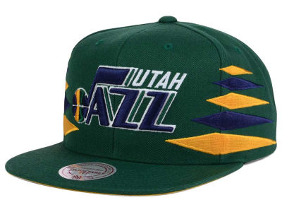 Utah Jazz Mitchell and Ness NBA Solid Diamond Snapback Cap