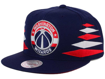 Washington Wizards Mitchell and Ness NBA Solid Diamond Snapback Cap