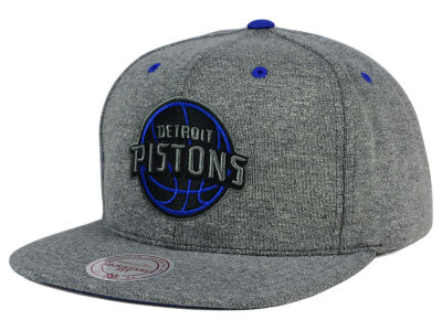 Detroit Pistons Mitchell and Ness NBA Broad Street 2.0 Snapback Cap