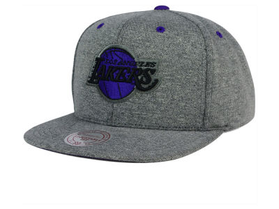 Los Angeles Lakers Mitchell and Ness NBA Broad Street 2.0 Snapback Cap