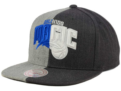 Orlando Magic Mitchell and Ness NBA Split Heather Snapback Cap