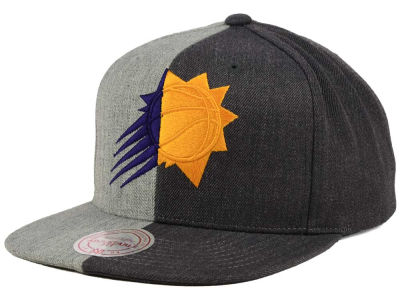 Phoenix Suns Mitchell and Ness NBA Split Heather Snapback Cap
