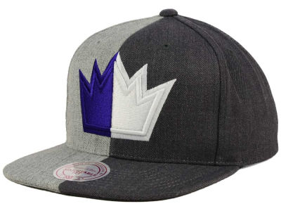 Sacramento Kings Mitchell and Ness NBA Split Heather Snapback Cap