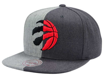 Toronto Raptors Mitchell and Ness NBA Split Heather Snapback Cap