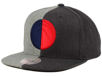 Washington Wizards Mitchell and Ness NBA Split Heather Snapback Cap