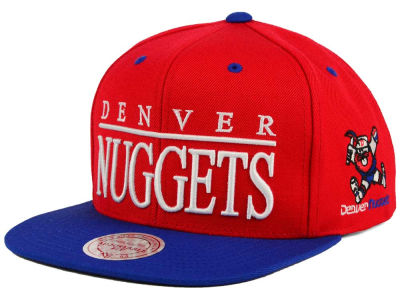 Denver Nuggets Mitchell and Ness NBA Top Shelf Snapback Cap