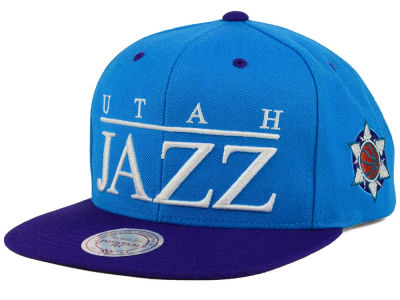 Utah Jazz Mitchell and Ness NBA Top Shelf Snapback Cap